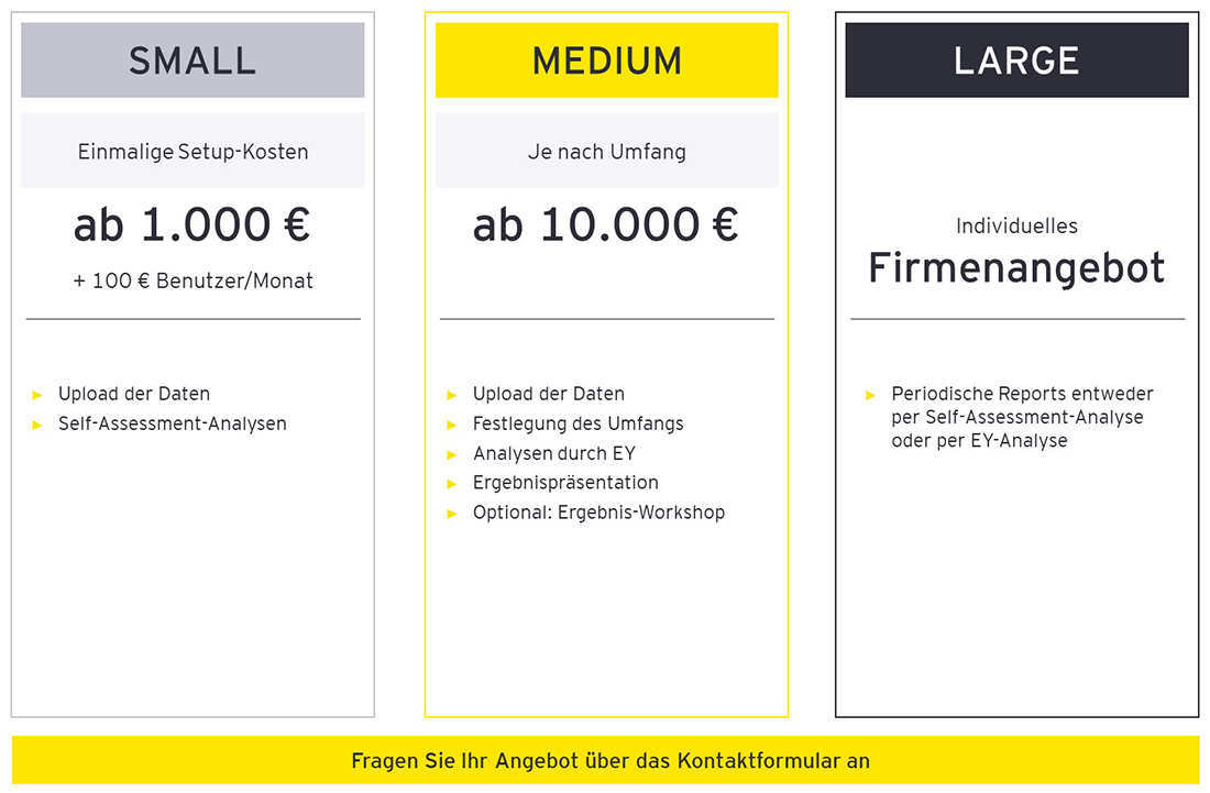 EY Easy Process Assessment Pricing